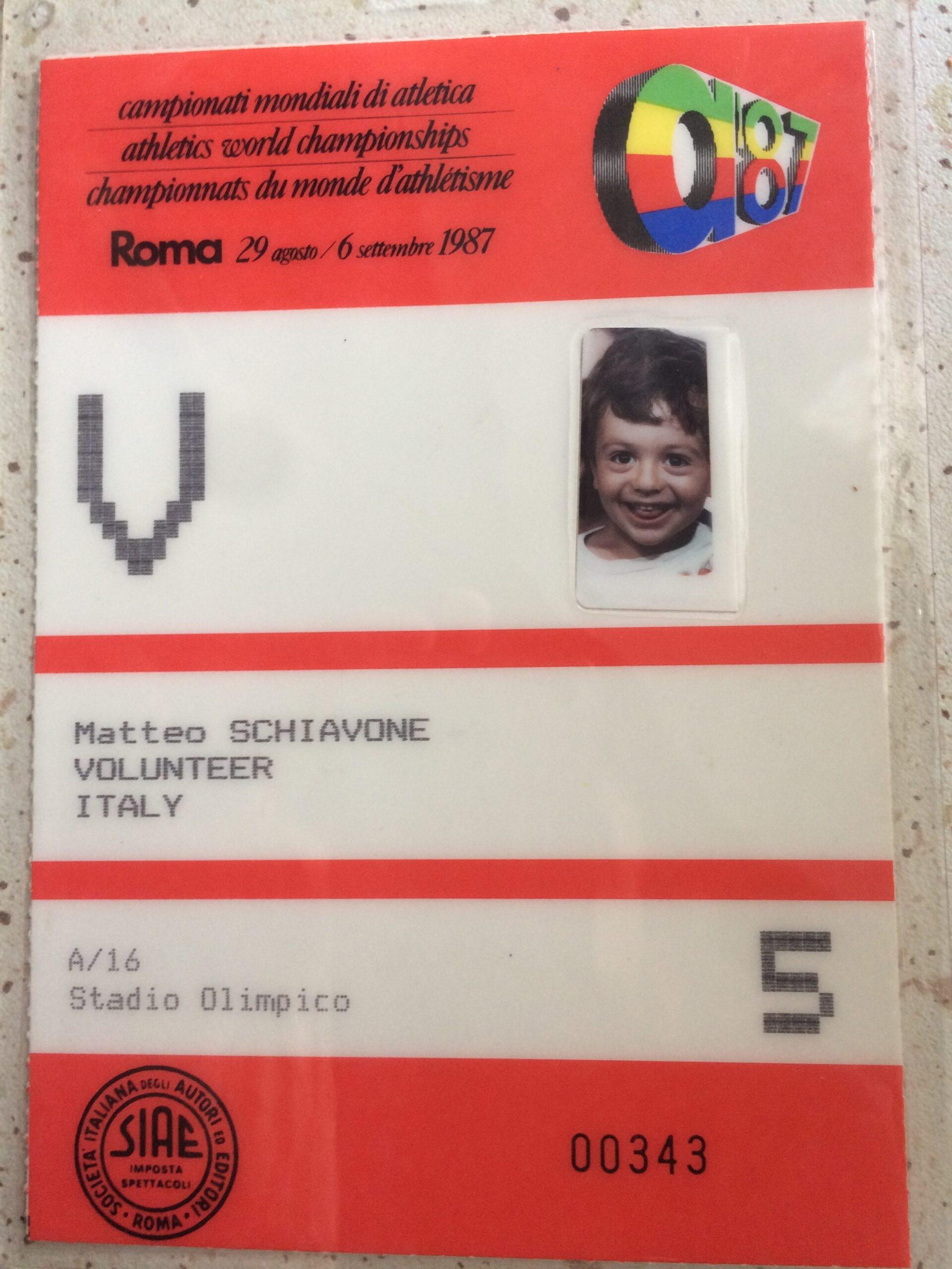 Presentazione Matteo Schiavone 1987